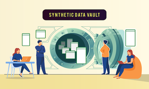 An infographic depicting the Synthetic Data Vault.